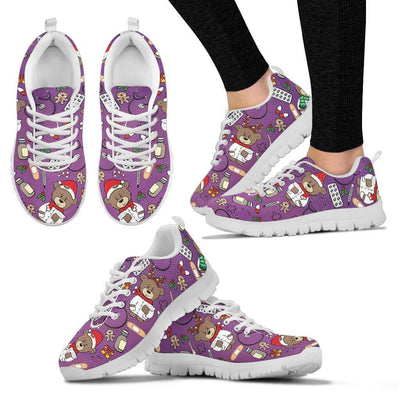 Limited Christmas Nurse Sneakers for Pediatrics (Nursing Tennis Shoes for Women). Click this image for more details!