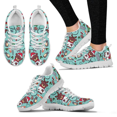 Christmas Nurse Sneakers for Pediatrics (Nursing Tennis Shoes for Women). Click this image for more details!