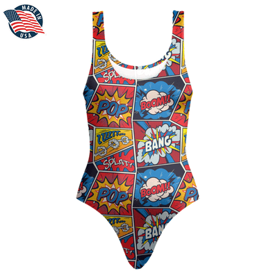 Comic One-Piece Swimsuit. Click this image for more details!