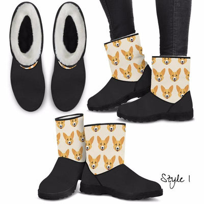 Corgi Lovers Eco-Friendly & Vegan-Friendly Faux Fur Boots for Women (Cruelty Free!)