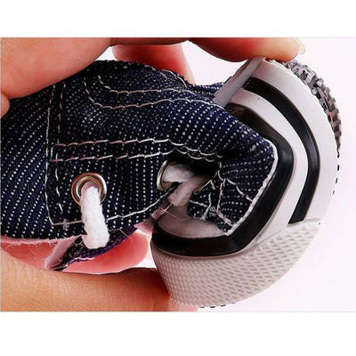Cute Denim Shoes For Your Dog