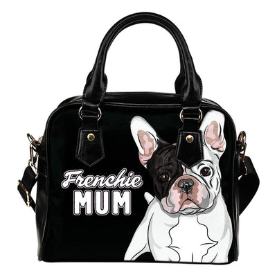 Frenchie Mum Eco-Leather Shoulder Handbag for French Bulldog lovers. Click this image for more details!