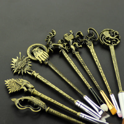 Game of Thrones Makeup Brushes in Antique Gold