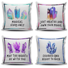 Gemstones & Crystals Inspirational Quote Throw Pillow Cushion Cover Set