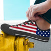 'Great America' American Flag Low-Top Canvas Shoes for Men
