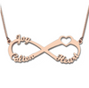 Infinity 3-Name Necklace | Personalized Name Necklace | 925 Sterling Silver Rose Gold