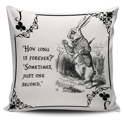 Alice in Wonderland White Rabbit Throw Pillow Cushion