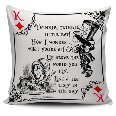Alice in Wonderland Mad Hatter Throw Pillow Cushion