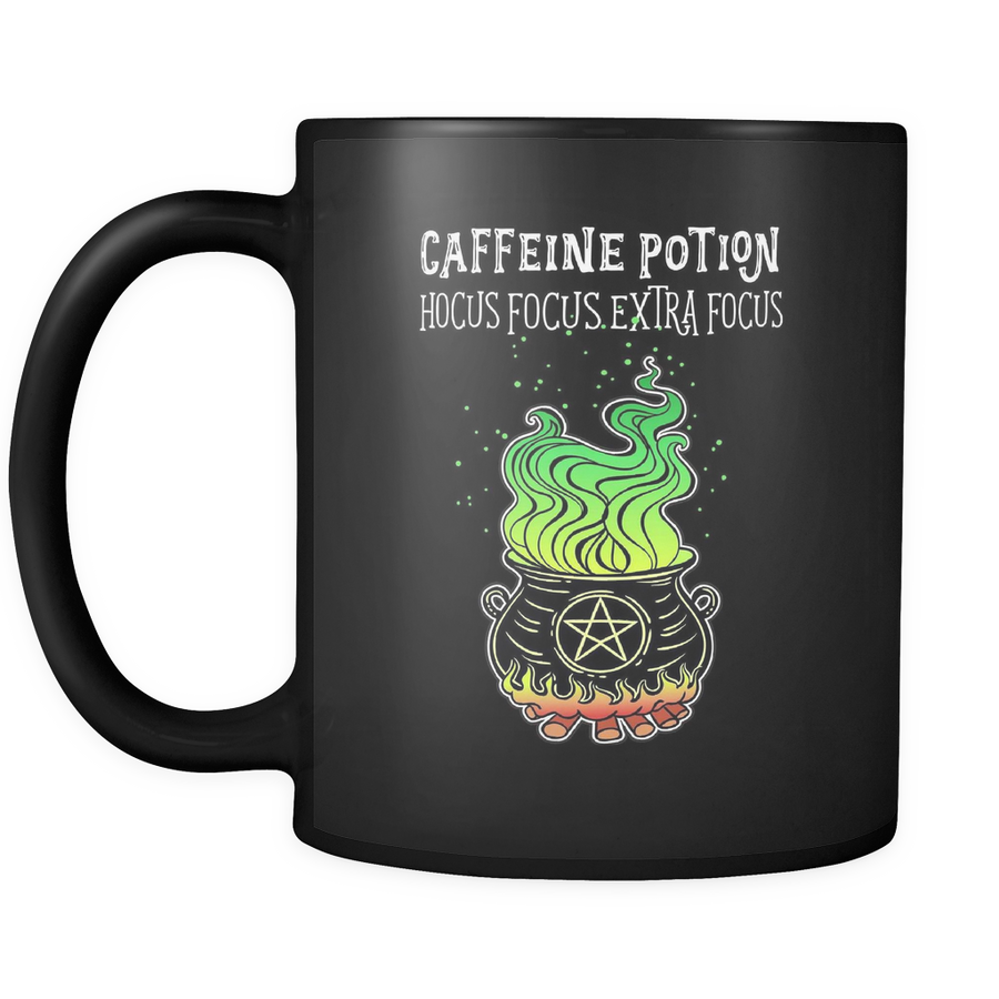 "Caffeine Potion ""Hocus Focus Extra Focus"" Ceramic Coffee Mug"