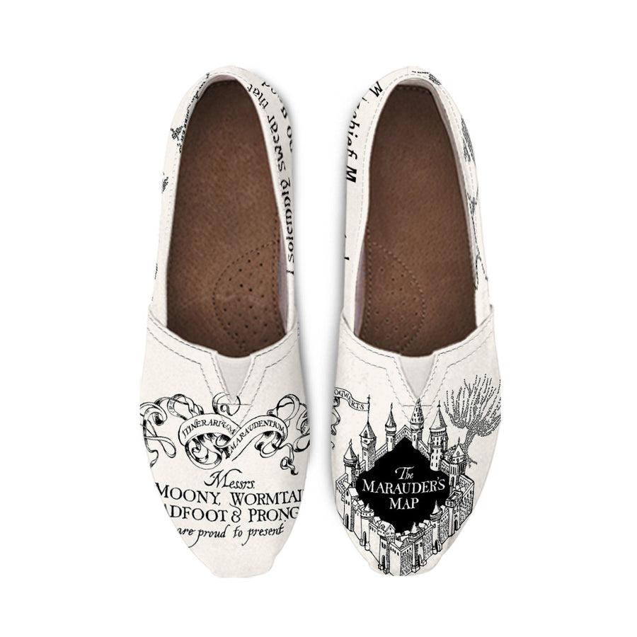 Harry Potter The Marauder's Map 'Mischief Managed' Casual Shoes for Women
