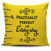 "Mary Poppins Measuring Tape Throw Pillow Cushion Cover - ""Practically perfect in every way"""