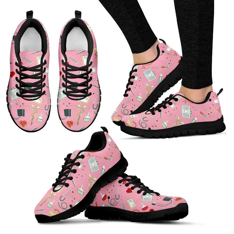 Nurse Sneakers with Caduceus for Women. Click this image for more details!