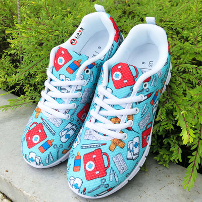 Phlebotomy Themed Nursing Sneakers. Click this image for more details!