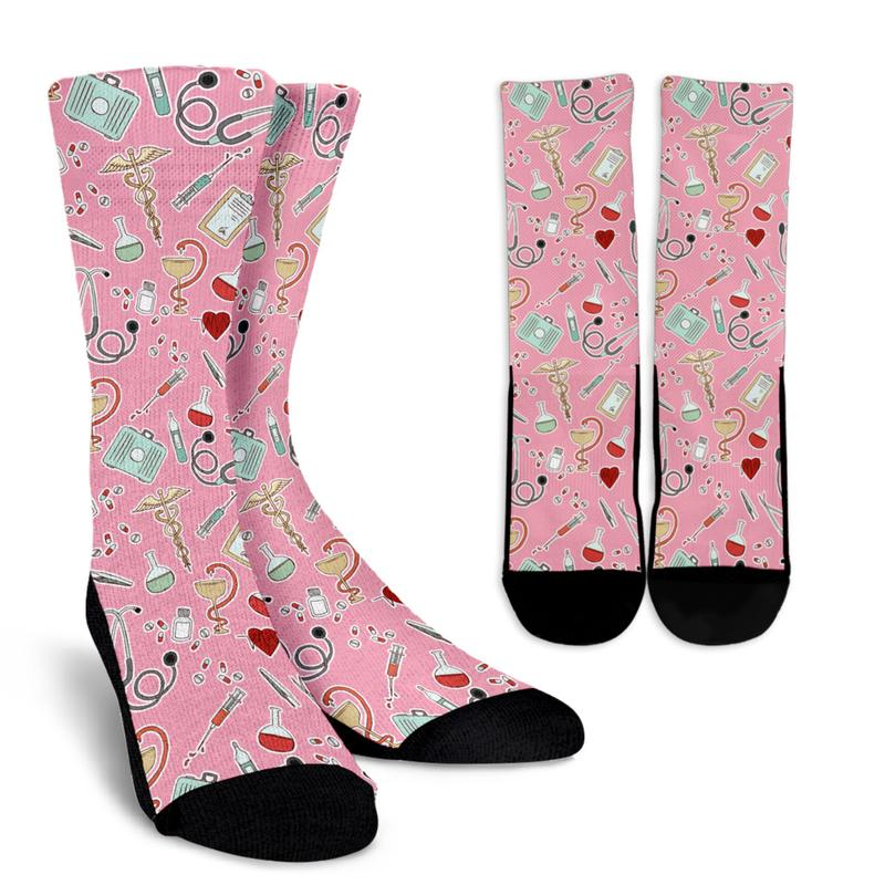 Nurse Caduceus Performance Crew Socks (Dynamic Arch Compression) - Unisex