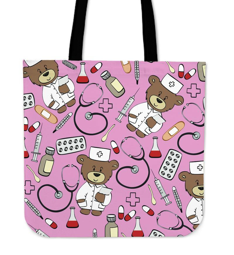 Nurse Bear Tote Bag