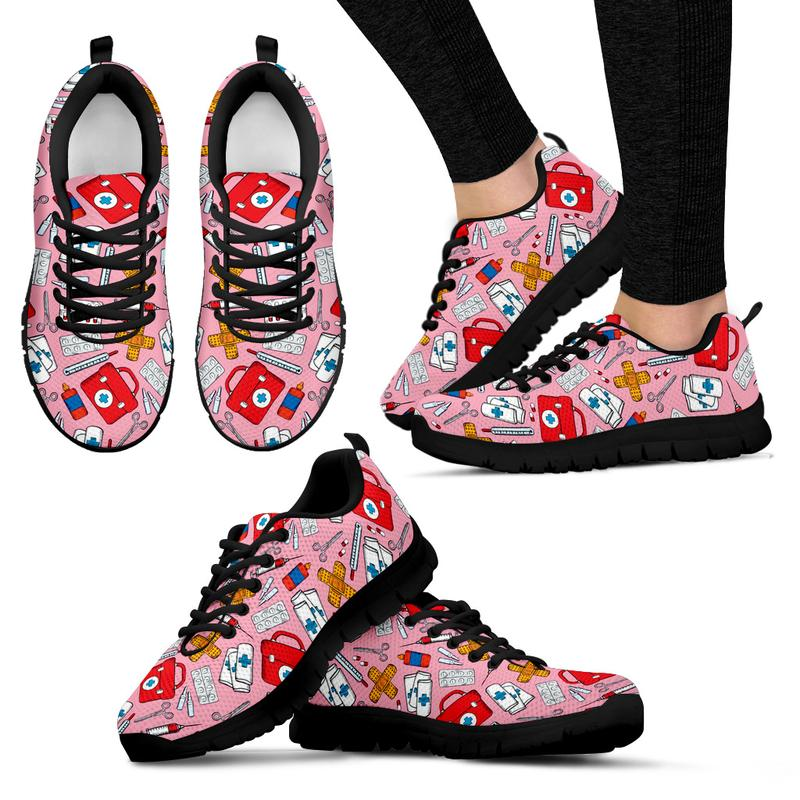 Nursing Sneakers (First Aid Design) for Women - Pink