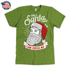 """Only Santa can judge me"" American Apparel Mens Shirt for Beard Lovers in Olive Green"