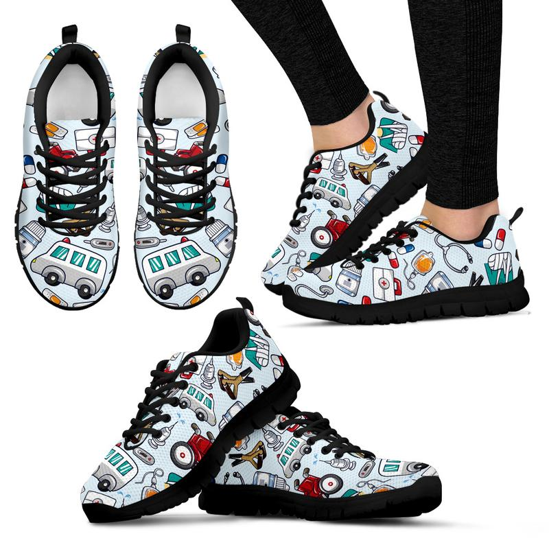 Paramedic Sneakers for Women (Light Blue). Click this image for more details!