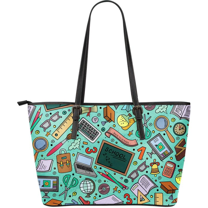 Teacher Large Eco-Leather Tote Bag