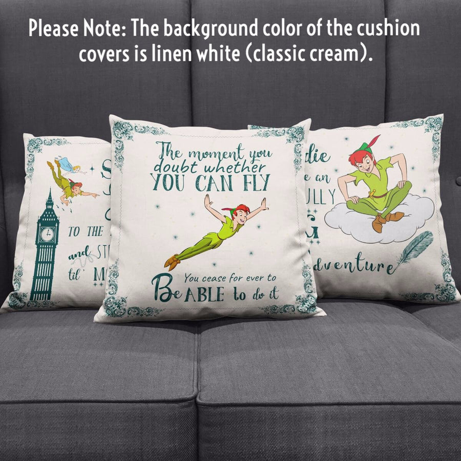 Peter Pan Throw Pillow Scatter Cushion Cover
