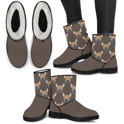 Pug Lovers Eco-Friendly & Vegan-Friendly Faux Fur Boots for Women (Cruelty Free!)