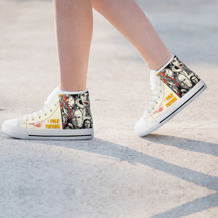 Pulp Fiction High-Top Canvas Shoes for Women