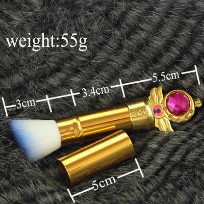 Sailor Moon Retractable Face Makeup Brushes