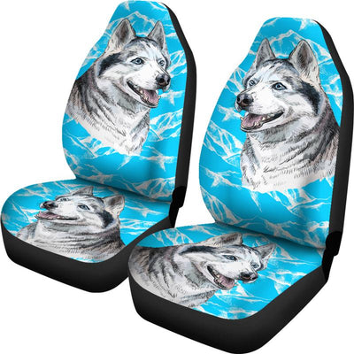 Siberian Husky Car Seat Covers Set Of Two Free Worldwide Shipping Click