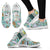 Teacher Themed Sneakers for Women - Turquoise