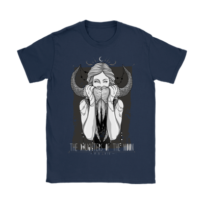 The Daughters of The Moon Women's T-Shirt in Navy