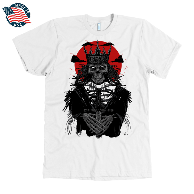 'The Dead King' American Apparel Mens Shirt in Black