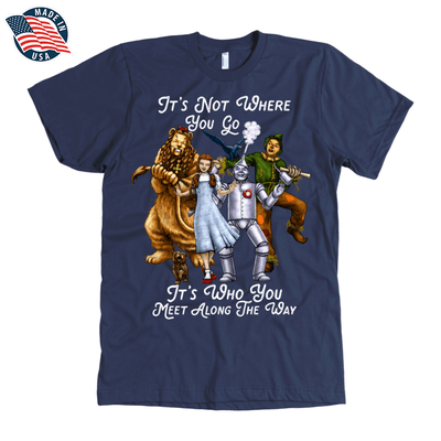 The Wizard of Oz American Apparel Mens T-Shirt in Navy