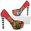 The Wizard of Oz Red High Heels with Black & White Stripes