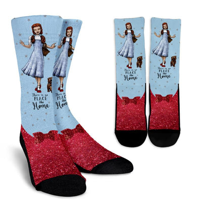 The Wizard of Oz Dorothy Gale Blue Crew Socks (Old Hollywood Style)