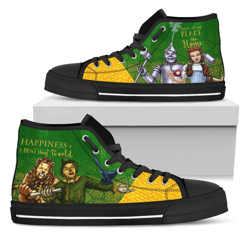 The Wizard of Oz High-Top Canvas Shoes for Women (Yellow Brick Road to the Emerald City)