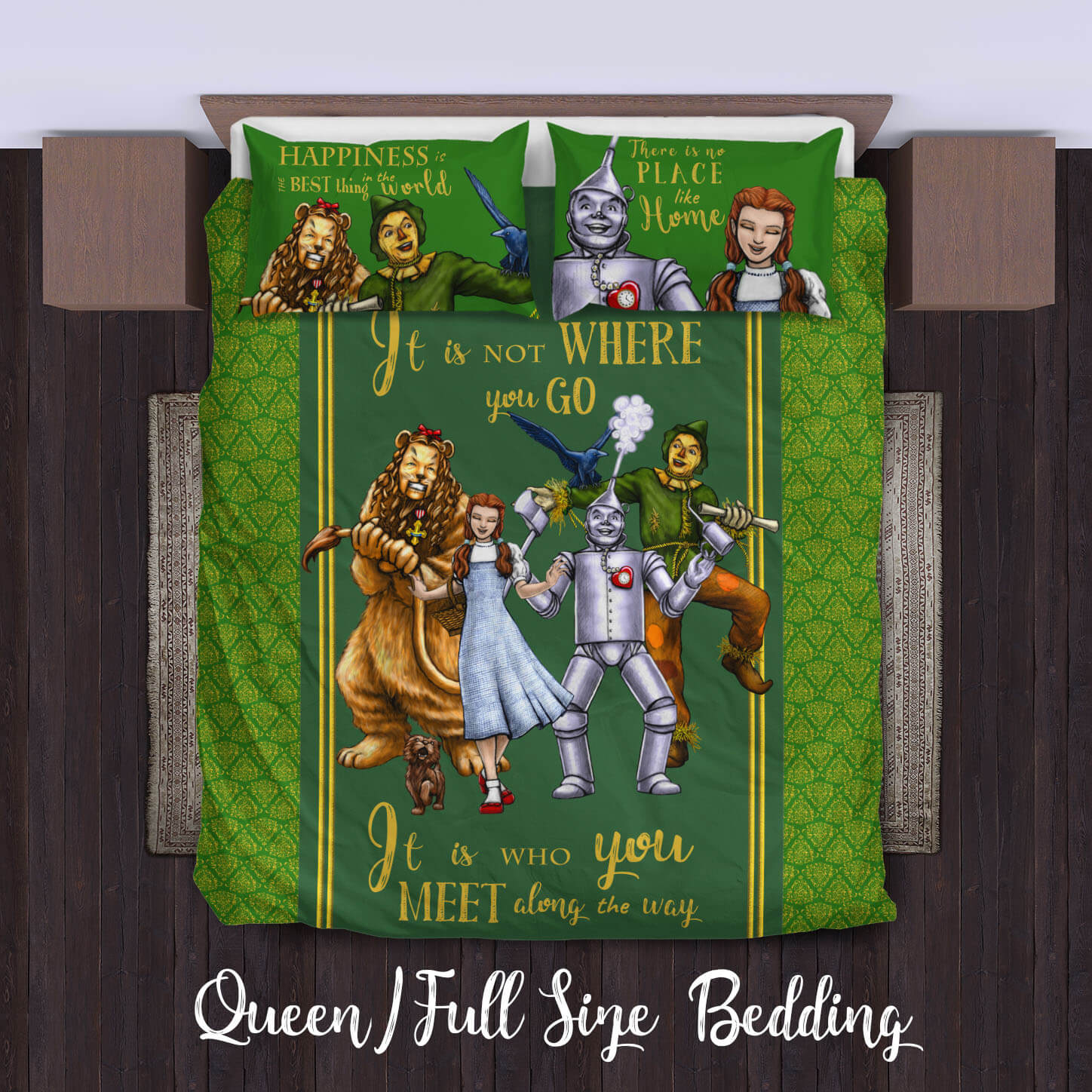 The Wizard Of Oz Duvet Cover Bedding Set King Queen