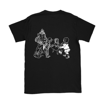 The Wizard of Oz 'Things To Do Today' (Oil the Tin Woodman, Stuff the Scarecrow, Hug the Lion) Women's T-Shirt in Black