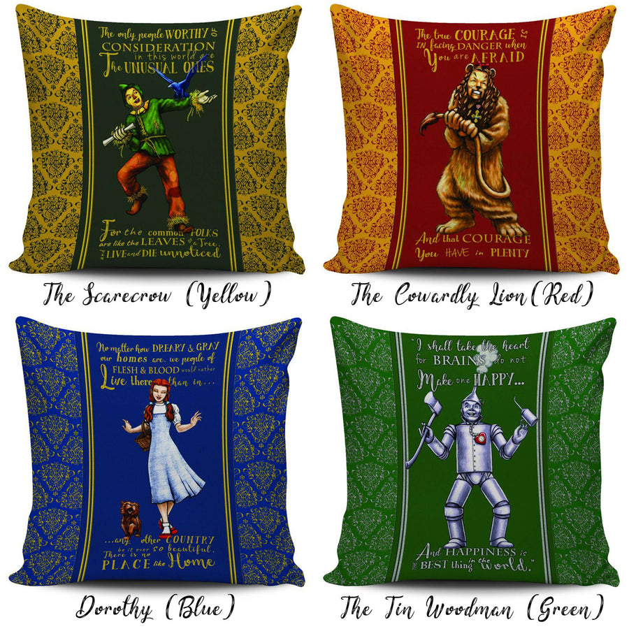 The Wizard of Oz Throw Pillow Scatter Cushion Cover