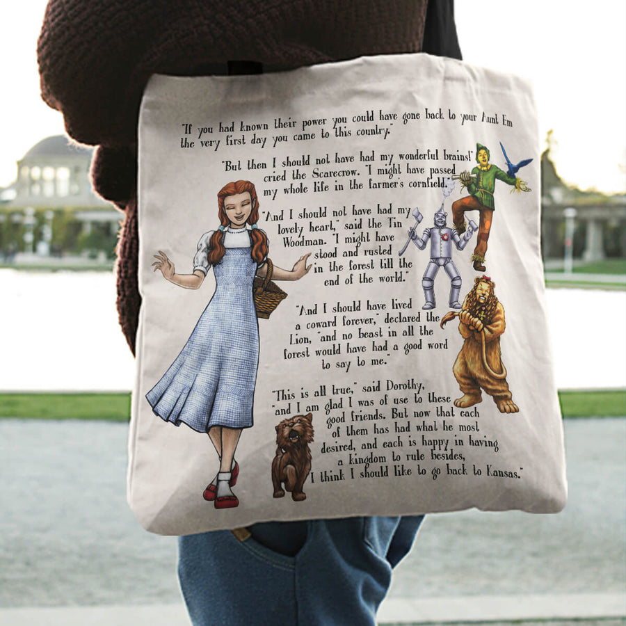 The Wizard of Oz Literary Bookish Tote Bags