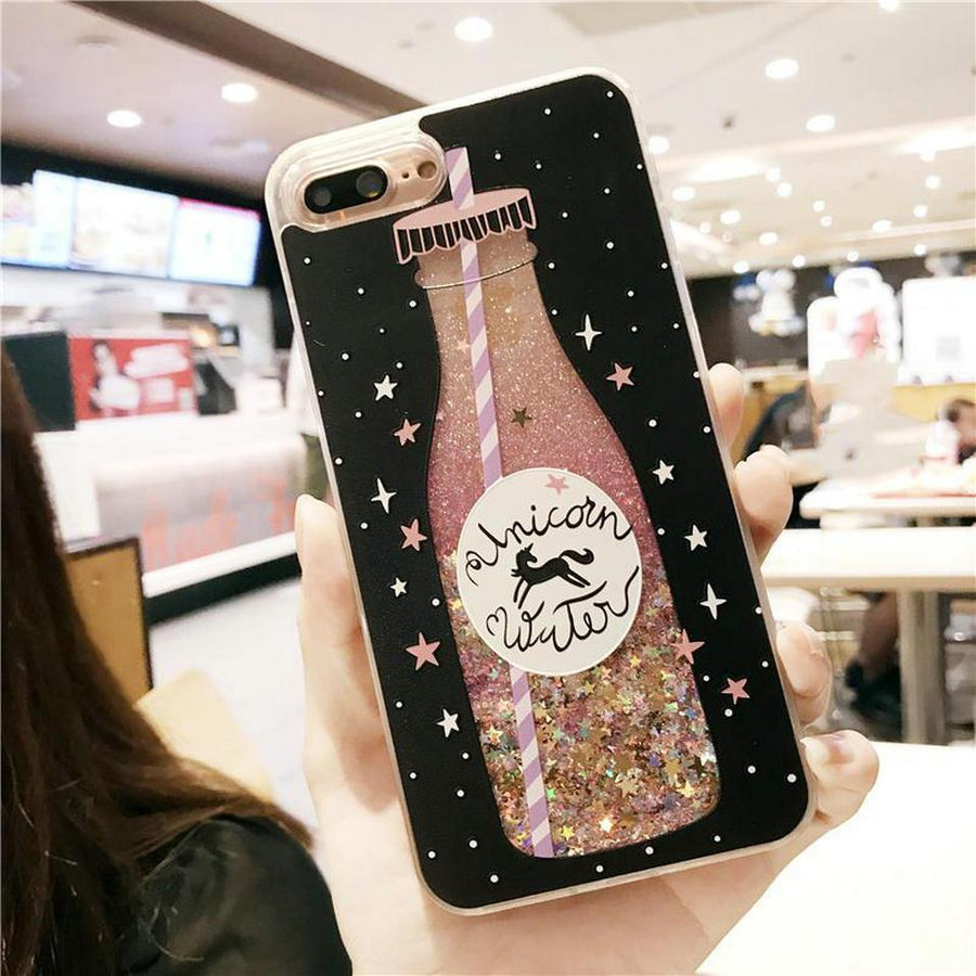 'Unicorn Water' Liquid Glitter iPhone Case