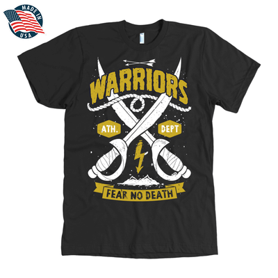 Warriors Fear No Death American Apparel Mens Shirt in Black