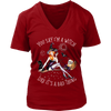 """You Say I'm A Witch Like It's Bad Thing"" Witch T-Shirt (Red Women's V-Neck)"