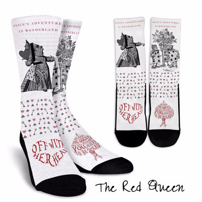 Alice in Wonderland The Queen of Hearts Socks (Classic-Style Bookish Socks for Your Literary Feet)