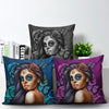 Calavera Girl 'Day of the Dead' Throw Pillow Cushion Covers