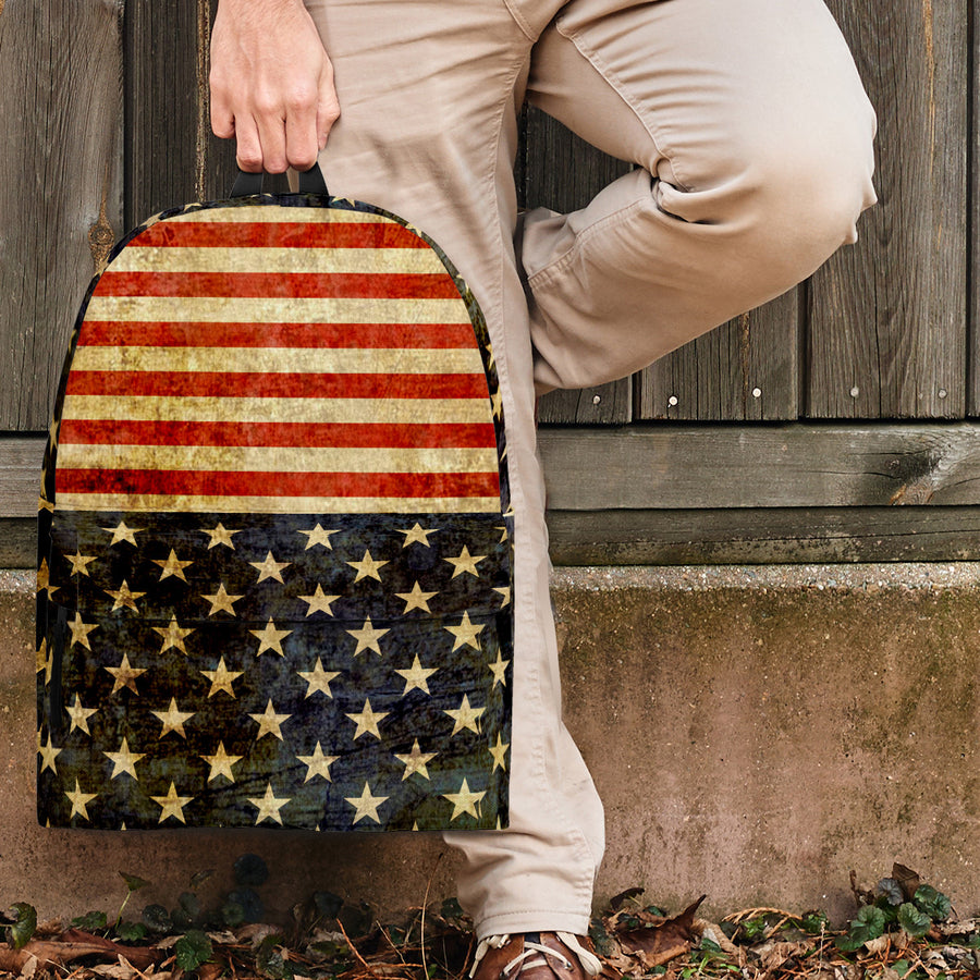'Great America' Rustic American Flag Backpack