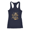 'Queens Are Born in March' Racerback Tank (GOLD) LIMITED EDITION