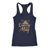 'Queens Are Born in May' Racerback Tank (GOLD) LIMITED EDITION