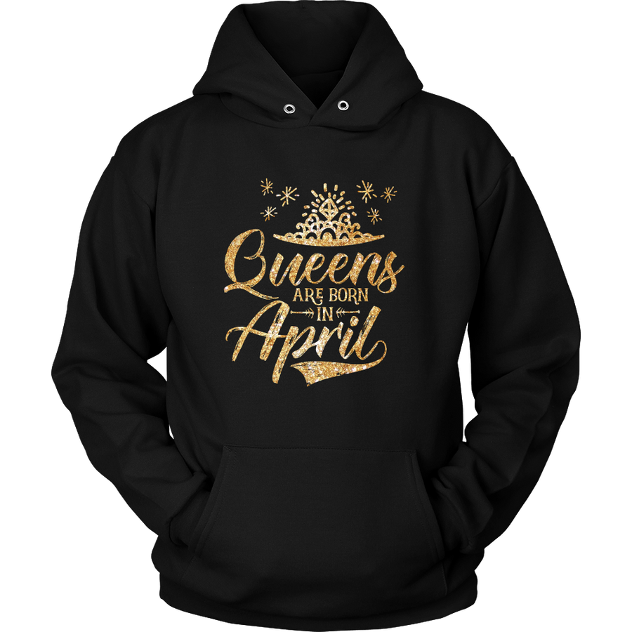 'Queens Are Born in April' Hoodie (GOLD) LIMITED EDITION