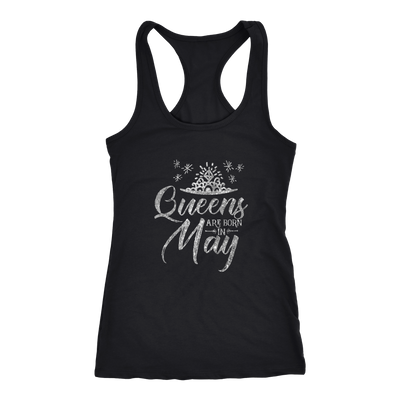 'Queens Are Born in May' Racerback Tank (SILVER) LIMITED EDITION