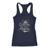 'Queens Are Born in March' Racerback Tank (SILVER) LIMITED EDITION